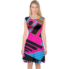 Olool Capsleeve Midi Dress