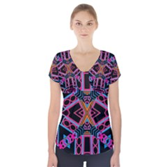 Nod The Head Short Sleeve Front Detail Top