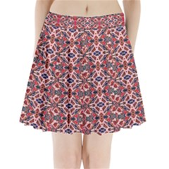 Rhomboid Pattern Pleated Mini Skirt