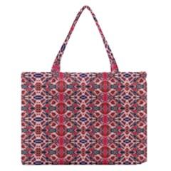 Rhomboid Pattern Medium Zipper Tote Bag