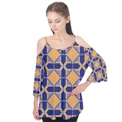 Squares   Geometric Pattern Flutter Tees