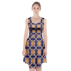 Squares   Geometric Pattern Racerback Midi Dress