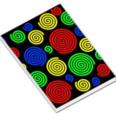 Colorful hypnoses Large Memo Pads
