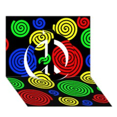 Colorful hypnoses Peace Sign 3D Greeting Card (7x5)