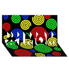 Colorful hypnoses #1 MOM 3D Greeting Cards (8x4)