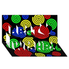 Colorful hypnoses Best Wish 3D Greeting Card (8x4)