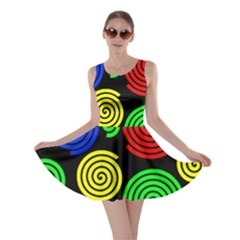 Colorful hypnoses Skater Dress