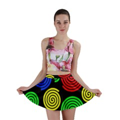 Colorful hypnoses Mini Skirt