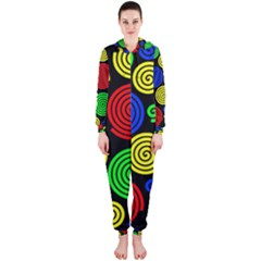 Colorful hypnoses Hooded Jumpsuit (Ladies)