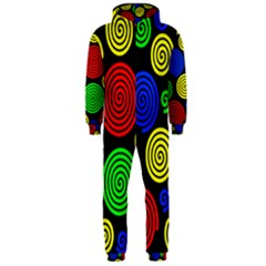Colorful hypnoses Hooded Jumpsuit (Men)