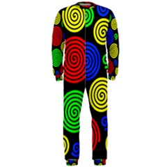 Colorful hypnoses OnePiece Jumpsuit (Men)