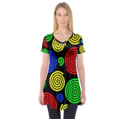 Colorful hypnoses Short Sleeve Tunic