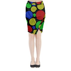 Colorful hypnoses Midi Wrap Pencil Skirt
