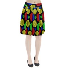 Colorful Hypnoses Pleated Skirt