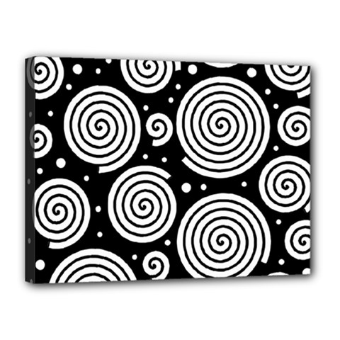 Black and white hypnoses Canvas 16  x 12