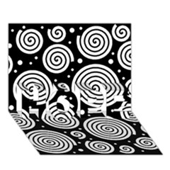 Black and white hypnoses HOPE 3D Greeting Card (7x5)