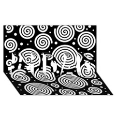Black and white hypnoses #1 DAD 3D Greeting Card (8x4)