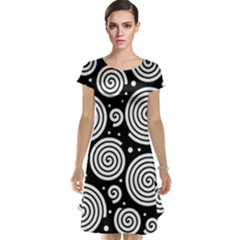 Black and white hypnoses Cap Sleeve Nightdress