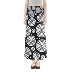 Black and white hypnoses Maxi Skirts