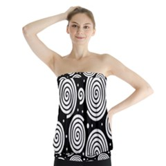 Black and white hypnoses Strapless Top