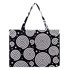Black and white hypnoses Medium Tote Bag