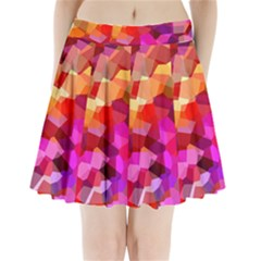Geometric Fall Pattern Pleated Mini Skirt