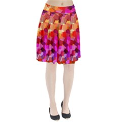 Geometric Fall Pattern Pleated Skirt