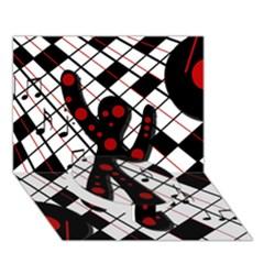 On the dance floor  Circle Bottom 3D Greeting Card (7x5)