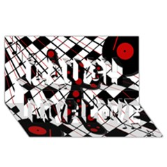 On the dance floor  Laugh Live Love 3D Greeting Card (8x4)