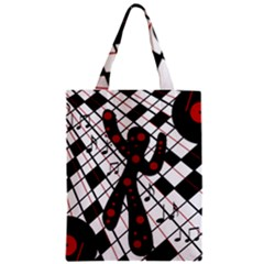 On the dance floor  Zipper Classic Tote Bag