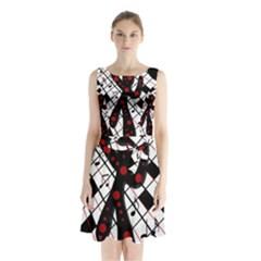 On The Dance Floor  Sleeveless Chiffon Waist Tie Dress