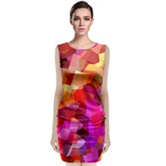 Geometric Fall Pattern Classic Sleeveless Midi Dress