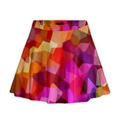 Geometric Fall Pattern Mini Flare Skirt