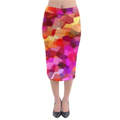Geometric Fall Pattern Midi Pencil Skirt