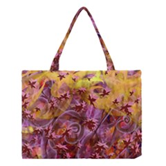 Falling Autumn Leaves Medium Tote Bag