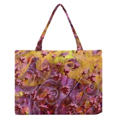 Falling Autumn Leaves Medium Zipper Tote Bag