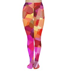 Geometric Fall Pattern Tights