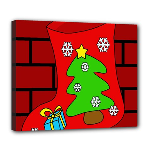 Christmas sock Deluxe Canvas 24  x 20