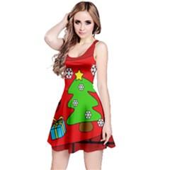 Christmas sock Reversible Sleeveless Dress