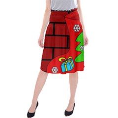Christmas sock Midi Beach Skirt