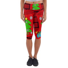 Christmas sock Capri Yoga Leggings