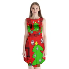 Christmas sock Sleeveless Chiffon Dress