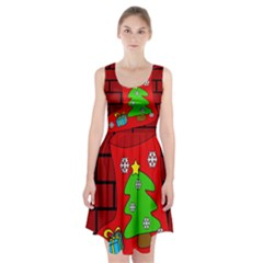 Christmas sock Racerback Midi Dress