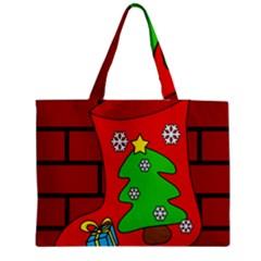 Christmas Sock Medium Zipper Tote Bag