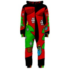 Christmas sock Hooded Jumpsuit (Ladies)