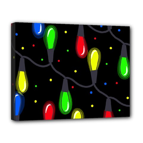 Christmas light Canvas 14  x 11
