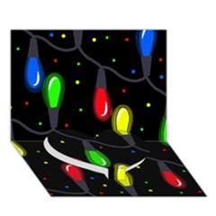 Christmas light Heart Bottom 3D Greeting Card (7x5)