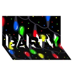 Christmas light PARTY 3D Greeting Card (8x4)