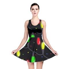 Christmas light Reversible Skater Dress