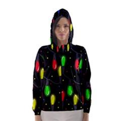 Christmas light Hooded Wind Breaker (Women)